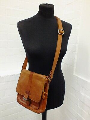£12.50 • Buy Spikes & Sparrow Genuine Leather Tan Crossbody Bag New Without Tags (Nee)