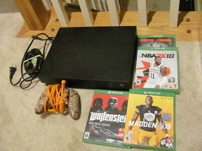 AU408.12 • Buy Xbox One X 1TB Console - Black With 1 Controller AND 4 GAMES--TESTED + WORKING