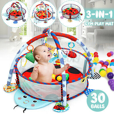 £81.85 • Buy Baby Gym Playmat Infant Activity Center Toddler Play Game Mat Hanging Toy Gift