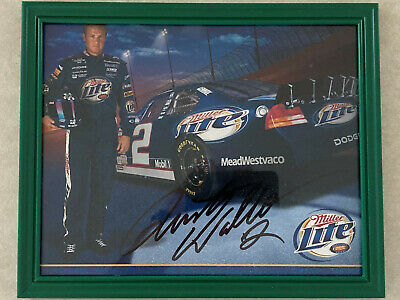 $9.99 • Buy Signed Autographed Rusty Wallace 8x10 Framed Picture #2 Miller Lite Dodge Mobil