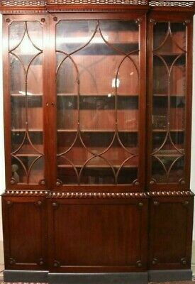 $1999 • Buy KITTINGER Colonial Williamsburg Chippendale Mahogany Breakfront Bookcase CW-38