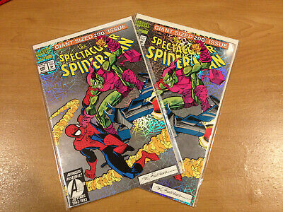 £7.19 • Buy Lot Of 2 The Spectacular Spider-Man #200 1993 NM Marvel Foil Cover Bagged Board