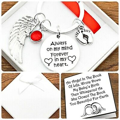 £5.49 • Buy Baby Loss Gift. In Loving Memory. Always On My Mind/in My Heart. Keyring. Box