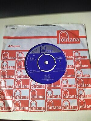 £4 • Buy Eden Kane 45rpm 7  Boys Cry/Don't Come Crying To Me, Fontana TF 438 1964