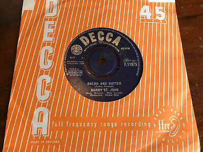 £5.99 • Buy 1964 Decca 45 Barry St John Bread And Butter / Cry To Me Ex Condition