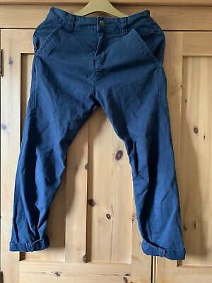 £3 • Buy Boys' NEXT  Twisted, Skinny Navy Carrot Chinos, UK 10 Years, USED VGC