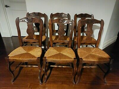AU480 • Buy French Provincial Hand Carved Antique Dining Chairs