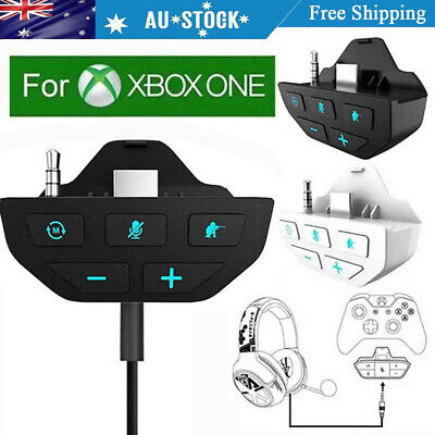 AU31.09 • Buy Stereo Headset Adapter Mic Headphone Converter For Xbox One Controller FG#
