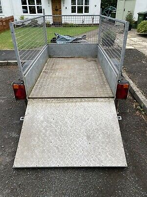 £510 • Buy Used Ifor Williams Trailer P6E With Caged Sides Plus Ramp.