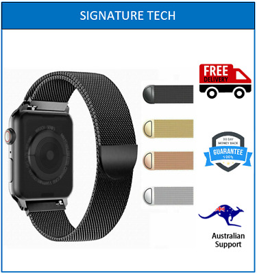 AU9.90 • Buy MILANESE METAL STRAP BAND FOR APPLE WATCH SERIES 5 4 3 2 6 SIZE 38/40/42/44mm