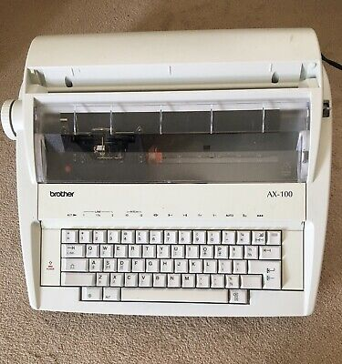 £69.99 • Buy Brother AX-100 Electric Typewriter Good Working Order With New Spare Ribbon