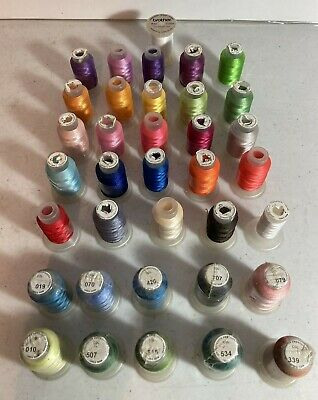 $19.99 • Buy New And Used Spool Brother Colors Polyester Embroidery Machine Thread Lot Of 36