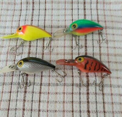 $45 • Buy 4 Pre-rapala Wiggle Wart Magnum Lures