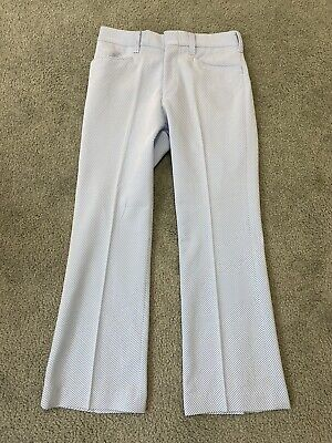 $69.99 • Buy NOS Vintage Disco Pants 70s FLARE Double Knit Polyester Deadstock Men's 32