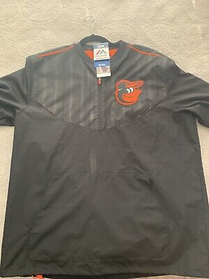 $30 • Buy Baltimore Orioles Authentic Cool Base Training S/S Jacket By Majestic - Large