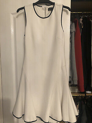 £5 • Buy Next Tailoring White Skater Dress, Size 6, Cut Out Back