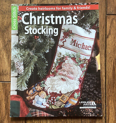£1.99 • Buy Leisure Arts Counted Cross Stitch Christmas Stocking Pattern Booklet