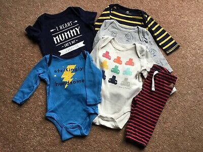 £3.50 • Buy Baby Gap Baby Boy 3-6 Months Clothes Bundle X 6 Items