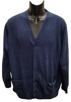 $16.99 • Buy Lacoste Mens Size 9 (XXL) Wool Cashmere Blue Cardigan Flaws