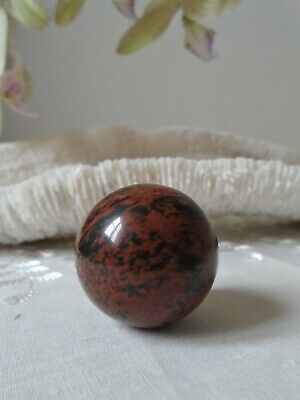$6.95 • Buy Small Mahogany Obsidian Sphere, 30 Mm 33 Grms  (m33)