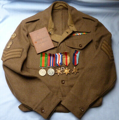£295 • Buy Named Ww2 British Royal Engineers Staff Sgt 1940 Patt Tunic/medals/pay Book Etc