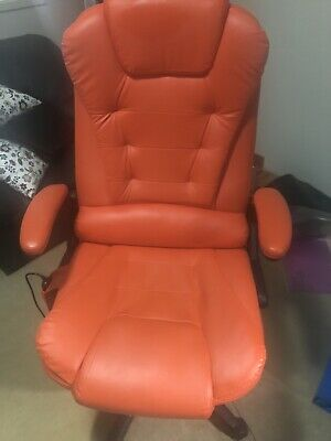 AU200 • Buy Leather Office Chair With Massage And Heat Settings Almost Brand New