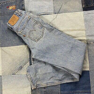 $35 • Buy Vintage Levi's 550 Student Relaxed Fit Orange Tab Jeans Size 27x28