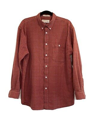 $20 • Buy Orvis Flannel Shirt Plaid Long Sleeve Button Up Mens Size Large Soft 100% Cotton