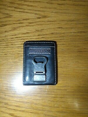 $19.98 • Buy  FOSSIL Brown Leather Money Clip/Bottle Opener MultiCard ID Holder Wallet EDC A7
