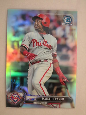 $3 • Buy 2017 Bowman Chrome Refractor Parallel Maikel Franco Phillies #/499