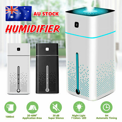 AU26.95 • Buy LED Air Humidifier Aroma Aromatherapy Diffuser Essential Oil Ultrasonic Purifier