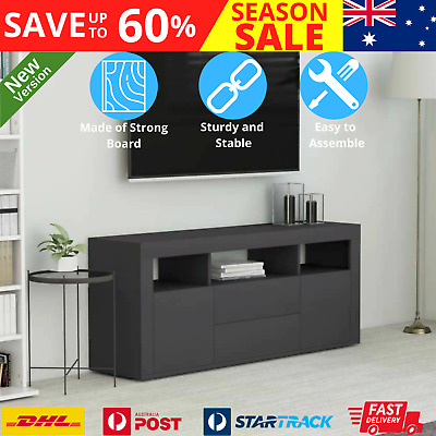 AU98.56 • Buy TV Cabinet With Drawers Storage Organizer Home Decor Entertainment Unit Stand