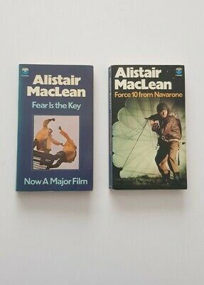£7.99 • Buy 2x Alistair MacLean Vintage Books Force 10 From Navarone Fear Is The Key Fontana