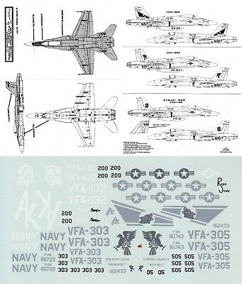 £6.99 • Buy REPLISCALE DECALS 1/72 F/A-18A Hornet VFA-132 Privateers VFA-303 305 Lobos (USN)