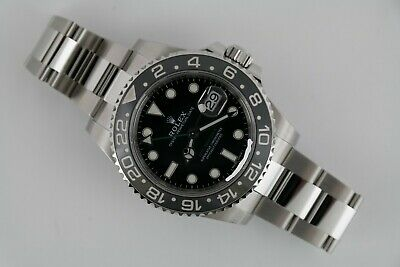 $ CDN22570.13 • Buy Rolex GMT-Master II 116710LN Black Ceramic Bezel & Dial Oyster Band Box & Papers