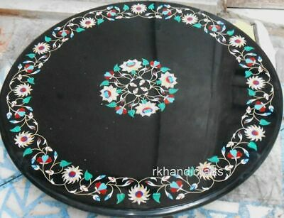 AU2141.56 • Buy 36 Inches Round Marble Dining Table Top Hand Inlay Work Elegant Reception Table