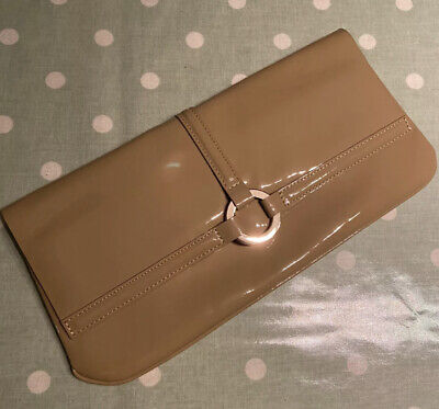 £45 • Buy L K BENNETT 'Ballina' Taupe Beige Camel Patent Leather Clutch Bag New RRP £175