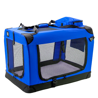 £38.49 • Buy Kct Large Blue Fabric Pet Carrier Bag Portable Foldable Cat Travel Dog Crate