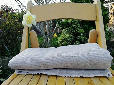 £55 • Buy Pure 100% Cashmere Blankets Nepalese Handmade  Home Bedding Brown Grey Cashmere