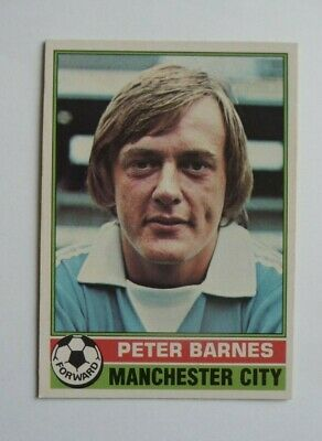 £1.50 • Buy Topps Chewing Gum 70's Football Card  . Peter Barnes . Manchester City