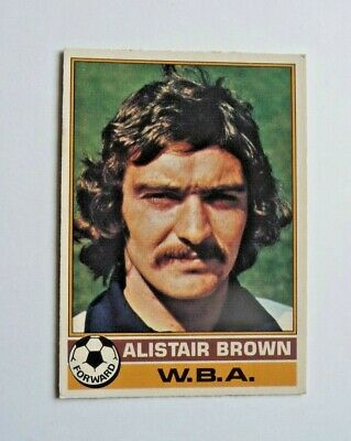 £1.50 • Buy Topps Chewing Gum 70's Football Card  . Alistair  Brown .  West Bromwich Albion