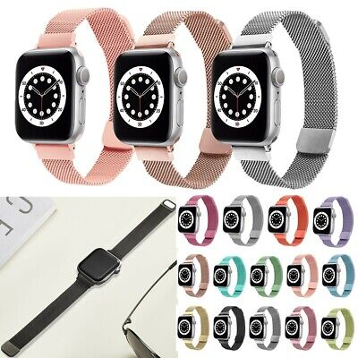 AU15.29 • Buy Slim Milanese Loop Band Strap Replace For Apple Watch Accessories 6 SE 5 4 3 2 1