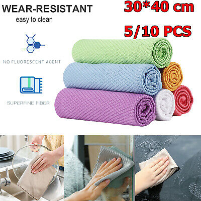 £7.76 • Buy 10x Fish Scale Microfiber Polishing Cleaning Cloth Household Kitchen Easy Clean