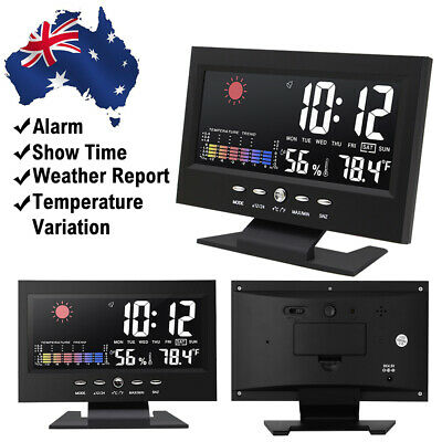 AU19.45 • Buy LED Digital Clock Desk Table Snooze Alarm Time Temperature Display USB Dimmable