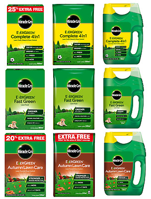 £11.95 • Buy Miracle-Gro Evergreen Complete 4 In 1 Thicker Fast Green Tougher Lawn Feed