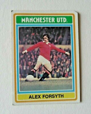 £1.50 • Buy Topps Chewing Gum 70's Football Card  . Alex Forsyth . Manchester United