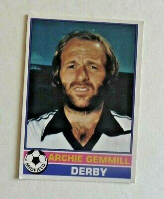 £1.50 • Buy Topps Chewing Gum 70's Football Card  . Archie Gemmill .   Derby County