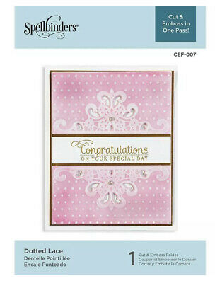 AU16.50 • Buy Spellbinders Embossing Folder ~ Dotted Lace ~ Cut & Emboss In One Pass!