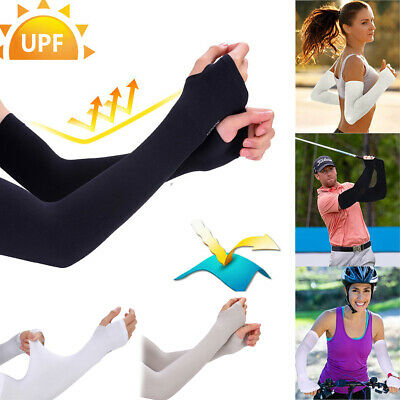 £3.11 • Buy 1Pair Arm Sleeves UV Sun Protection Breathable Arm Warmers Cover Outdoor Sports