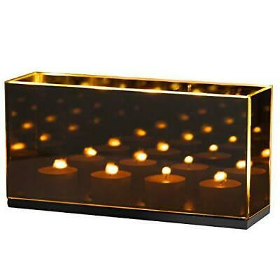 £13.99 • Buy Tanness Infinity Tealight Candle Mirror Box | Decorative Reflectiv Optical